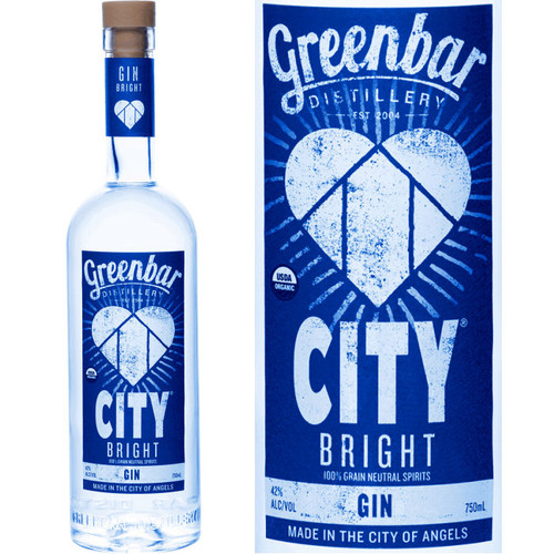 Greenbar City Bright Organic Gin 750ml
