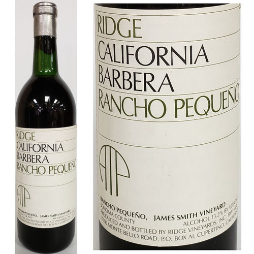 Ridge Rancho Pequeno Sonoma Barbera