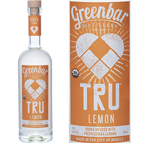 Greenbar TRU Lemon Organic Vodka 750ml