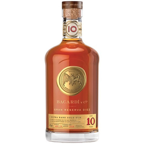Bacardi Gran Reserva Diez 10 Year Old Rum 750ml