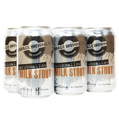 Garage Brewing Mashmallow Milk Stout 12oz 6 Pack Cans