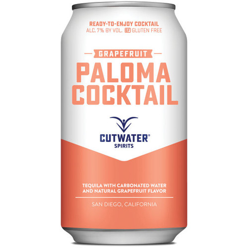Cutwater Spirits Grapefruit Tequila Paloma Cocktail Ready-To-Drink 4-Pack 12oz Cans