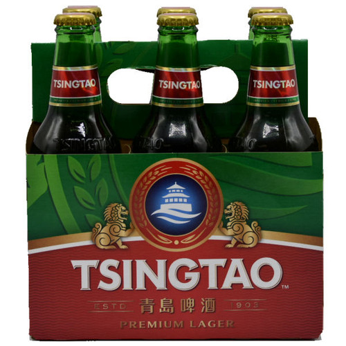 Tsingtao Beer 12oz 6 Pack Bottles (China)