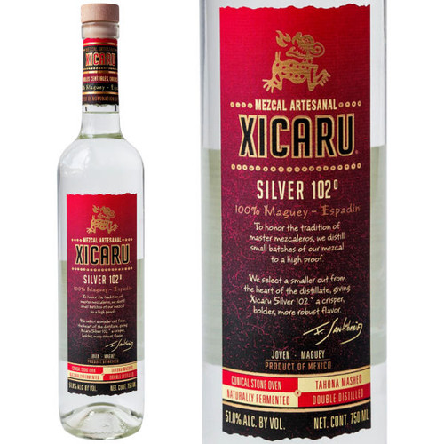 Xicaru Silver Mezcal 102 Proof 750ml