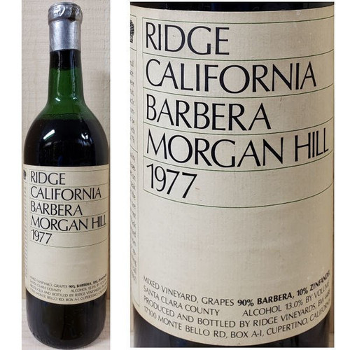 Ridge Morgan Hill Santa Clara Barbera