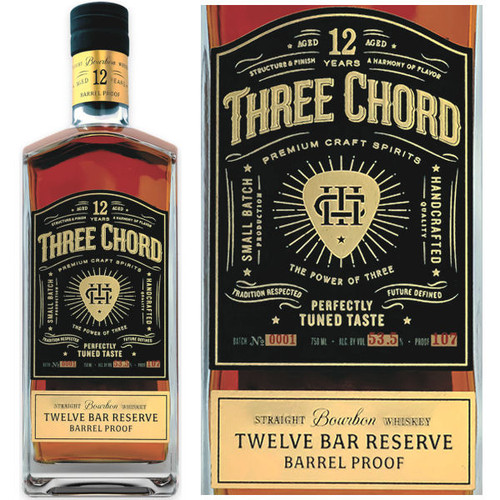 Three Chord by Neil Giraldo 12 Year Old Bourbon Whiskey 750ml