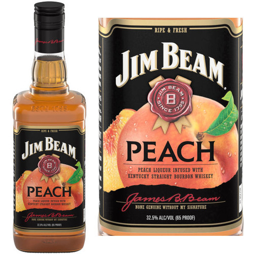 Jim Beam Peach Bourbon Liqueur 750ml