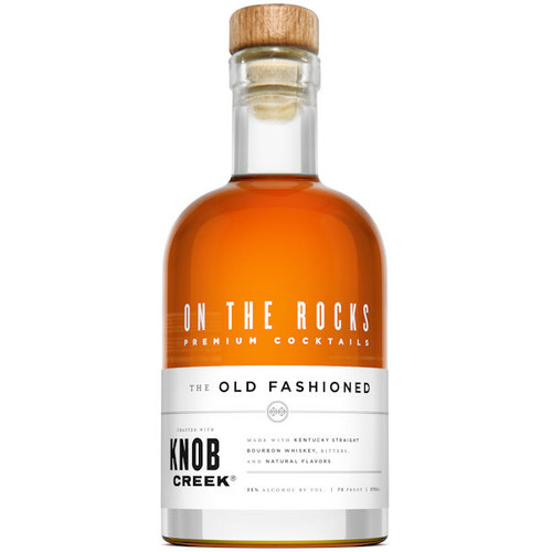 On The Rocks Knob Creek Bourbon The Old Fashioned Ready To Drink Cocktail 375ml