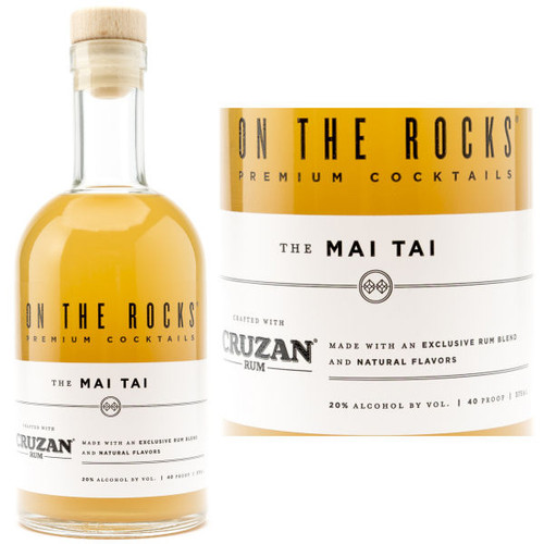 On The Rocks Cruzan Rum The Mai Tai Ready To Drink Cocktail 375ml