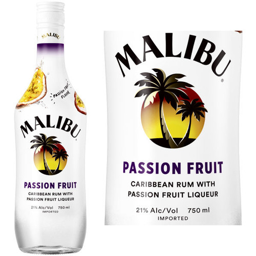 Malibu Passion Fruit Flavored Rum 750ml