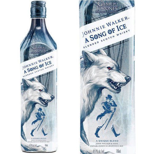 Johnnie Walker A Song of Ice Game Of Thrones Blended Scotch 750ml
