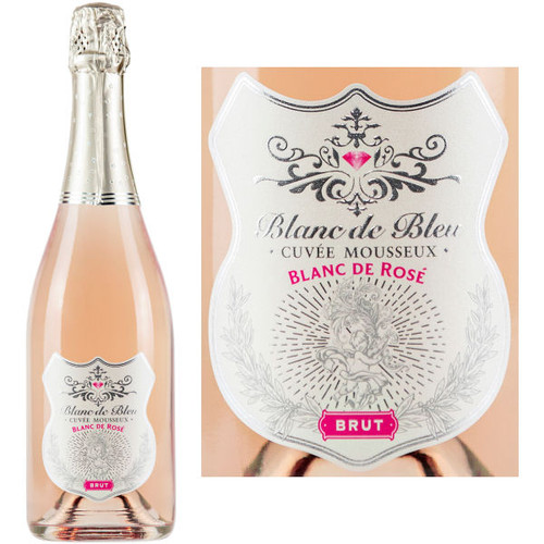 Blanc de Bleu Blanc de Rose Brut Sparkling NV 750ml is full and round with smooth flavors and fine persistent bubbles. The extra measure of Chardonnay contributes elegance and austerity