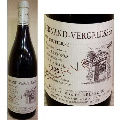 Domaine Marius Delarche Pernand-Vergelesses Les Boutieres Reserve Red Burgundy