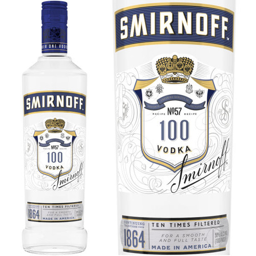 Smirnoff 100 Proof Vodka 750ml