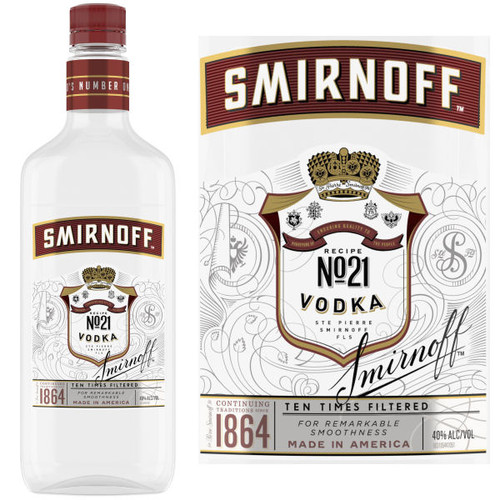 Smirnoff No. 21 Vodka 750ml