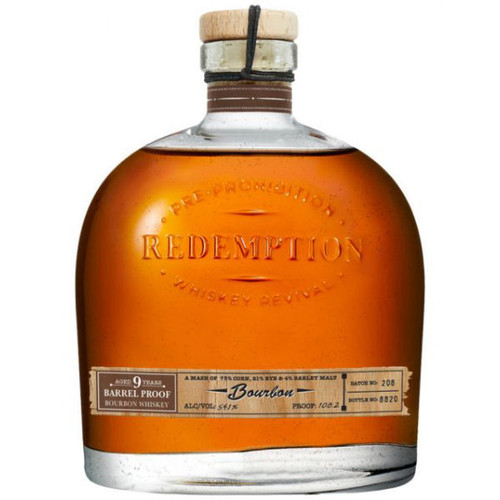 Redemption 9 Year Old Barrel Proof Bourbon Whiskey 750ml