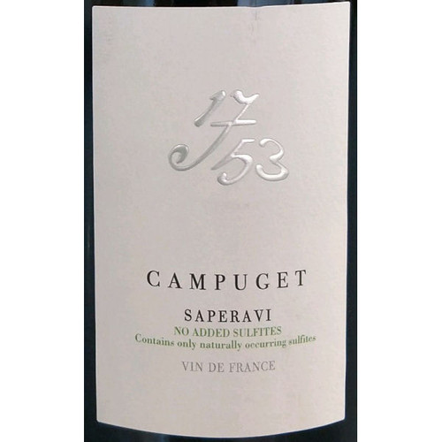 Campuget 1753 Saperavi No Added Sulfites