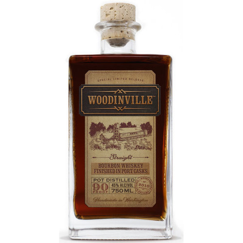 Woodinville Straight Washington Bourbon Whiskey Finished in Port Casks 750ml
