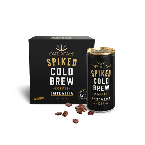 Cafe Agave Spiked Cold Brew Caffe Mocha Coffee 4-Pack