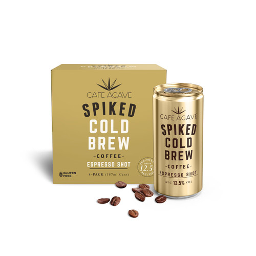 Cafe Agave Spiked Cold Brew Espresso Shot Coffee 4-Pack
