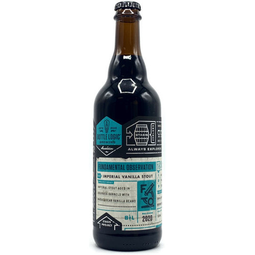 Bottle Logic Fundamental Observation BA Imperial Vanilla Stout 2020 500ml