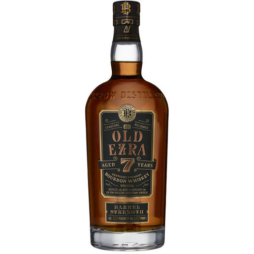 Old Ezra 7 Year Old Barrel Strength Kentucky Straight Bourbon Whiskey 750ml
