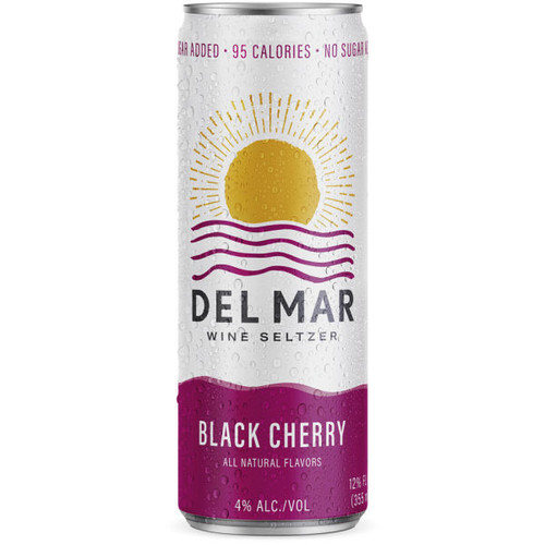 Del Mar Black Cherry Wine Seltzer 12oz 4 Pack Cans