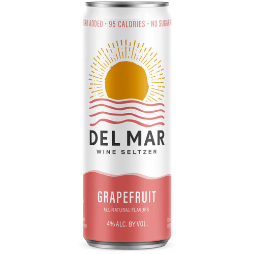 Del Mar Grapefruit Wine Seltzer 12oz 4 Pack Cans