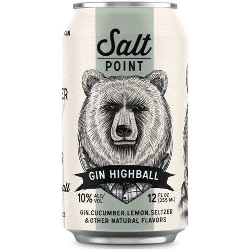 Salt Point Gin Highball Ready-To-Drink 4-Pack 12oz Cans