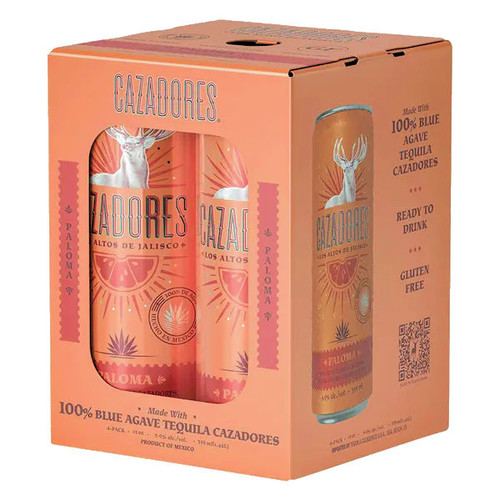 Cazadores Tequila Paloma Cocktail Ready-To-Drink 4-Pack 12oz Cans