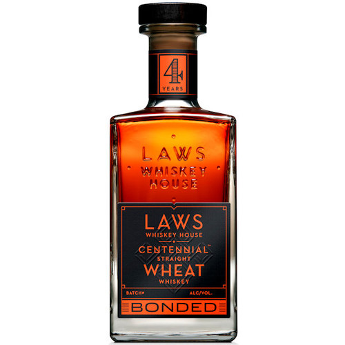 Laws Whiskey House Centennial Bonded Straight Wheat Whiskey 750ml
