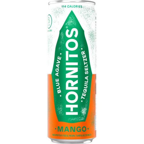 Hornitos Mango Tequila Seltzer Ready To Drink 12oz 4 Pack Cans