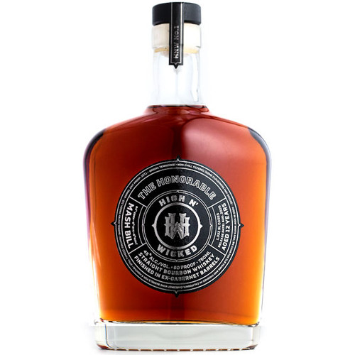 High & Wicked The Honorable Finished in Ex-California Cabernet Barrels Straight Bourbon Whiskey 750ml