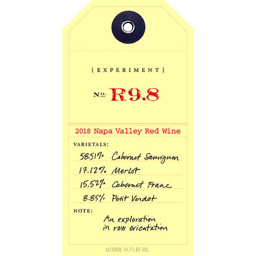 Ovid Experiment R9.8 Napa Red Blend