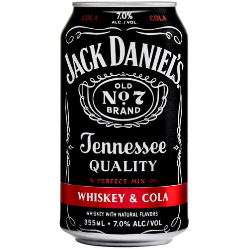 Jack Daniel's Whiskey & Cola Cocktail Ready To Drink 12oz 4 Pack Cans