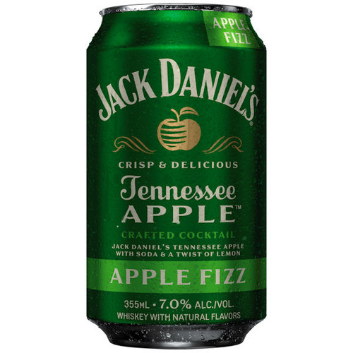 Jack Daniel's Apple Fizz Cocktail Ready To Drink 12oz 4 Pack Cans