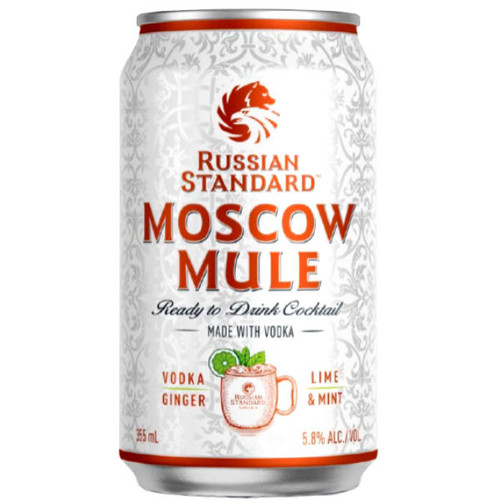 Russian Standard Vodka Moscow Mule Ready-To-Drink 4-Pack 12oz Cans