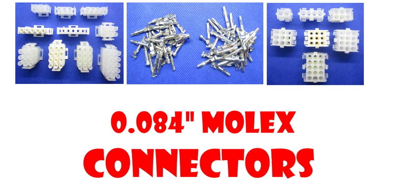 """.084"""" Molex Connectors"""
