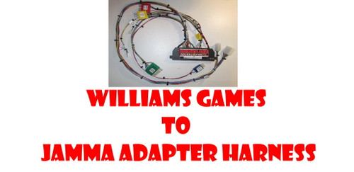 Williams Games to Jamma  Adapter Harness
