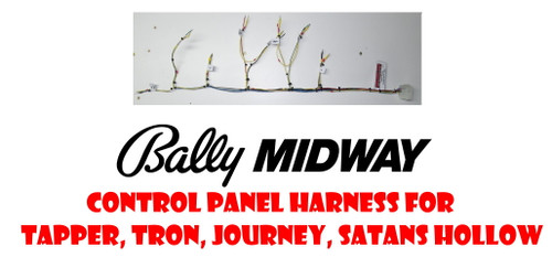 Bally/Midway Reproduction Control Panel Harnesses (Tapper, Tron, Journey, Satans Hollow)