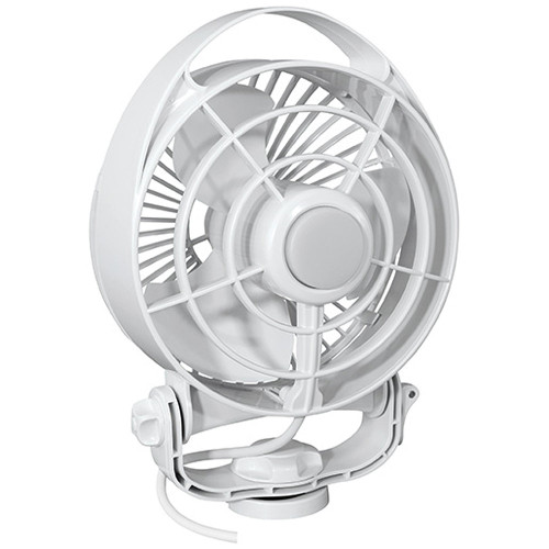 "Caframo Maestro 12V 3-Speed 6"" Marine Fan w\/LED Light - White [7482CAWBX]"