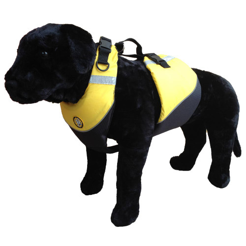First Watch Flotation Dog Vest - Hi-Visibility Yellow - Medium [AK-1000-HV-M]