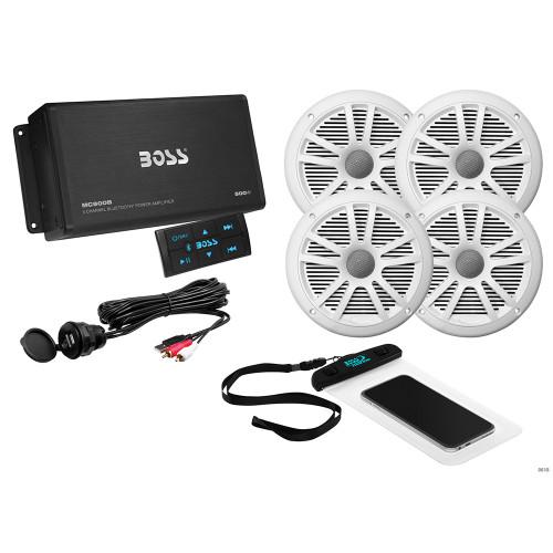 Boss Audio ASK904B.64 4-Channel Bluetooth Amplifier w\/4 Speakers [ASK904B.64]