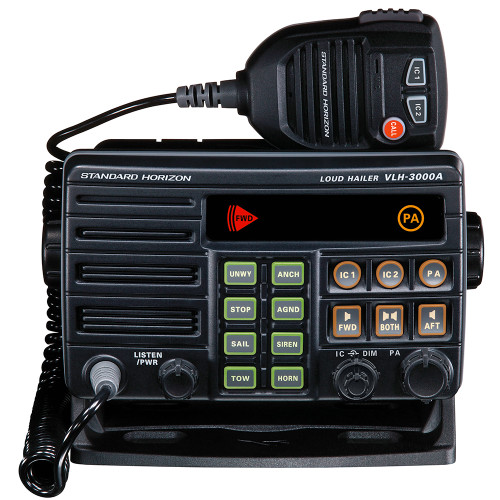 Standard Horizon VLH-3000A 30W Dual Zone PA\/Loud Hailer\/Fog w\/Listen Back & 2 Optional Intercom Stations [VLH-3000A]