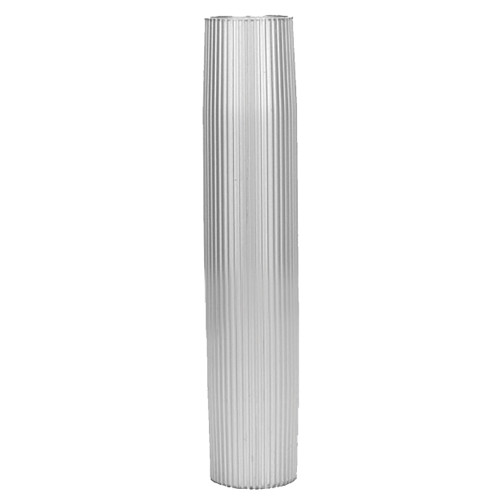"TACO Aluminum Ribbed Table Pedestal - 2-3\/8"" O.D. - 26"" Length [Z60-8266VEL26-2]"