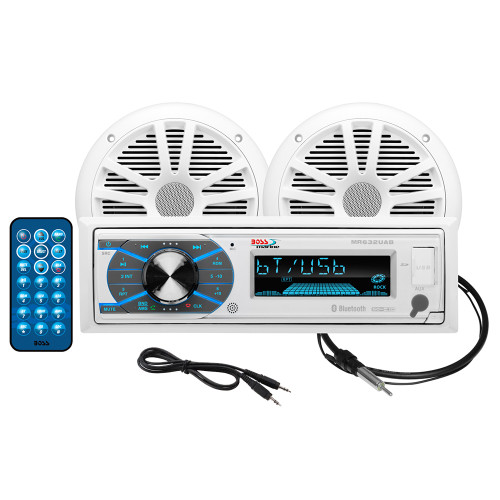 """Boss Audio MCK632WB.6 Package w\/AM\/FM CD Receiver; one Pair of 6.5"""" Speakers  Antenna [MCK632WB.6]"""