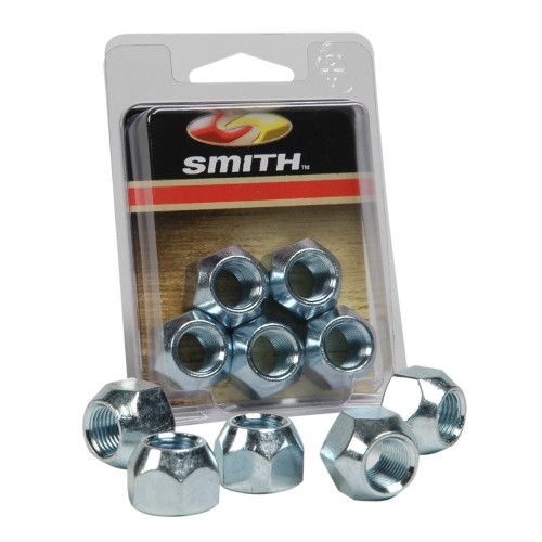 """C.E. Smith Package Wheel Nuts 1\/2"""" - 20 - 5 Pieces - Zinc [11052A]"""