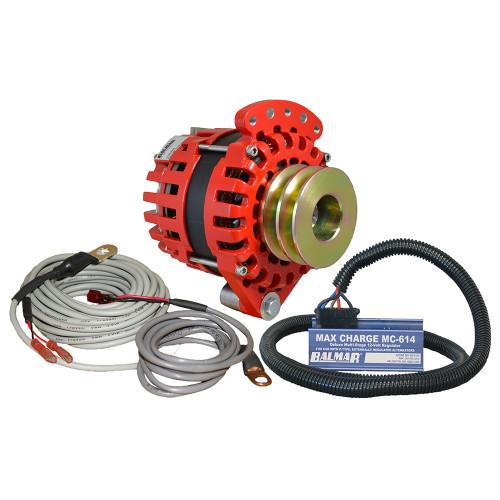 """Balmar Alternator 1-2"""" Single Foot Dual V Pulley Regulator  Temp Sensor - 170A Kit - 12V [XT-SF-170-DV-KIT]"""