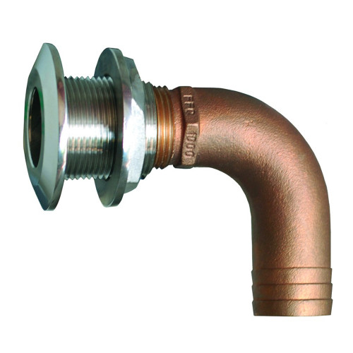 "GROCO 1-1\/2"" 90 Degree Hose Thru-Hull Fitting [HTHC-1500-S]"