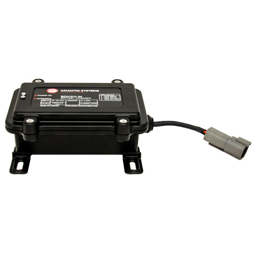 Analytic Systems Waterproof IP66 DC Battery Charger 10A, 24V Out, 30-80V In, Ruggedized [BCH10W-24]